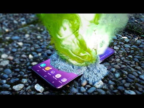 Can Galaxy S9 Survive Negative X? Green Fire!