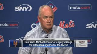 Mets GM Sandy Alderson talks Conforto surgery and offseason plan 2017 Video