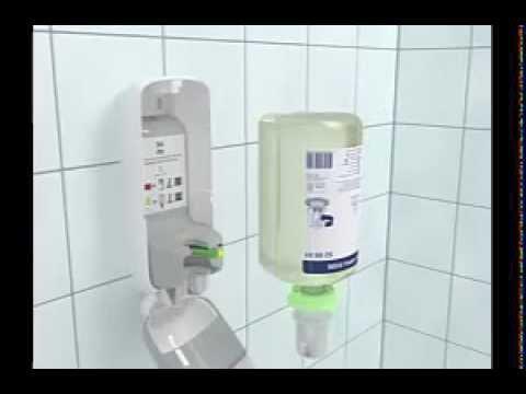 Блок розлива жидкого мыла - YouTube