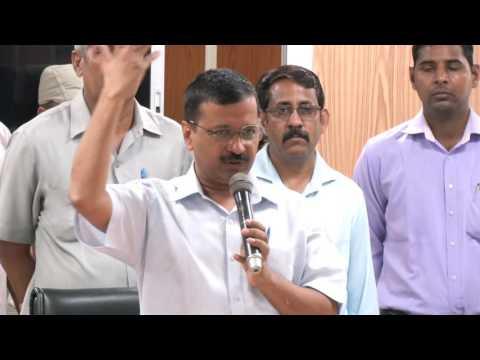 Delhi CM Arvind kejriwal Addresses the Labourers regarding Minimum Wage Rise