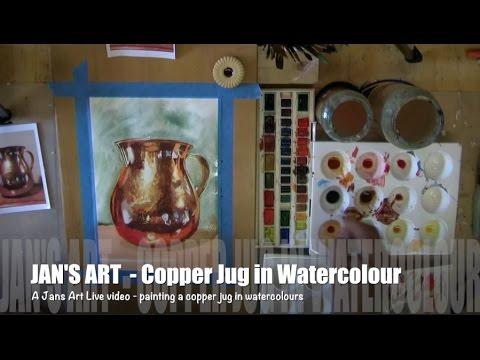 Jan's Art Studio - Painting a Copper Jug in Watercolours