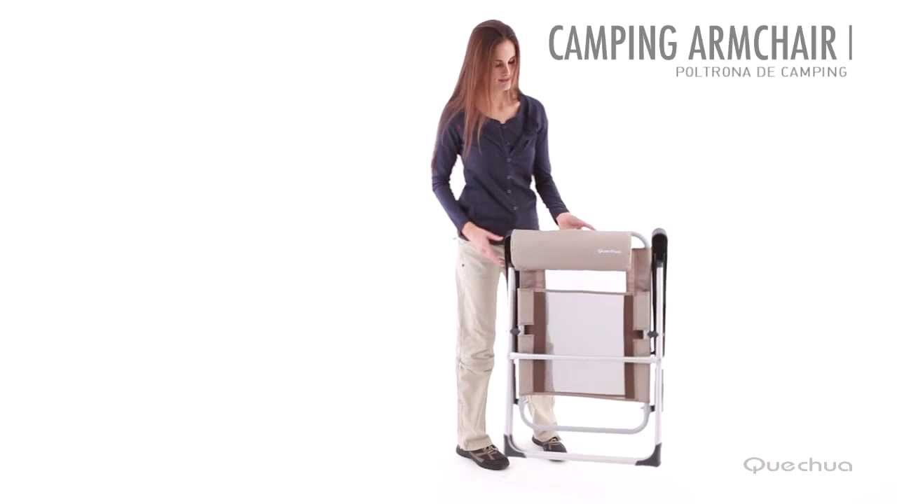 Cadeira De Camping Quechua Inovacao Exclusiva Decathlon Youtube