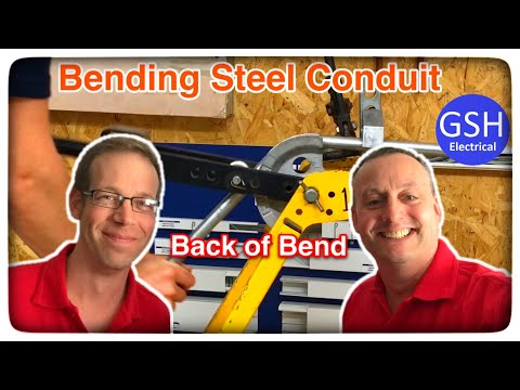 How To Bend Steel Conduit To The Correct Measurement From The End Of The Conduit To Back Of The Bend