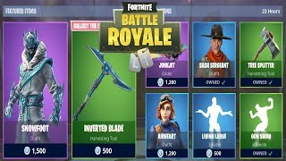 FORTNITE ITEM SHOP TODAY 4 JANUARY | NEW SKIN SNOWFOOT, INVERTED BLADE | FORTNITE DAILY SHOP