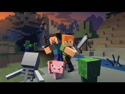 Minecraft игра для детей Строим дом и Сражаемся с зомби