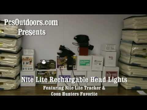 Nite Lite Tracker Light & Coon Hunters Favorite Rechargable Hunting Lights