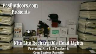nite lite tracker light coon hunters favorite rechargable hunting lights