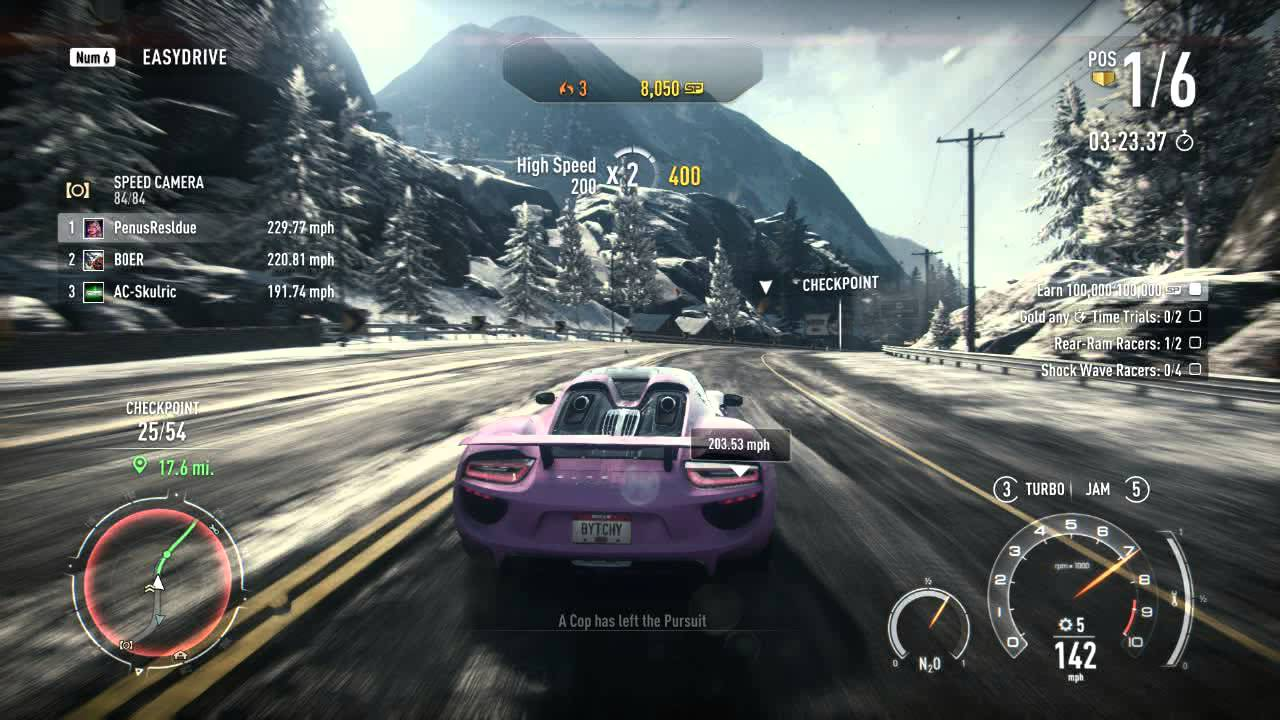 need for speed rivals pc grand tour 8 fully upgraded porsche 918 s. Black Bedroom Furniture Sets. Home Design Ideas