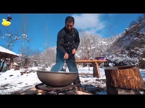 Traditional Russian Borscht Recipe | Ukraine Borsch Soup With Cabbage | Wilderness Cooking