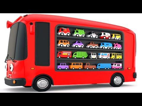 Thumbnail: Colors for Children to Learn with Bus Transporter Toy Street Vehicles - Educational Videos