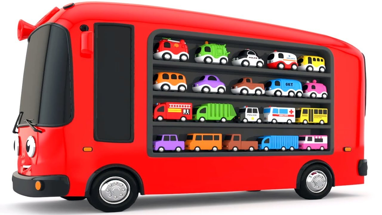 Colors for Children to Learn with Bus Transporter Toy ...