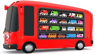 Colors for Children to Learn with Bus Transporter Toy Street Vehicles - Educational Videos thumbnail