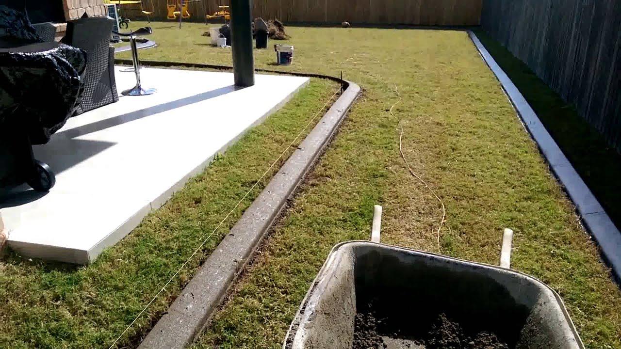 Auskerbs concrete garden edging YouTube