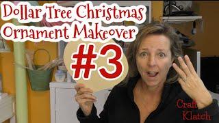 Dollar Tree Ornament Makeover #3:  Frosty Snowflake | Christmas Craft Ideas | Craft Klatch