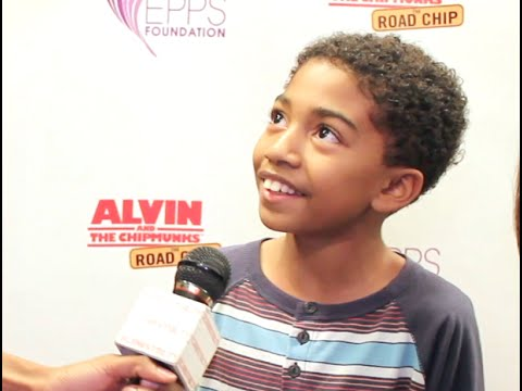 """Actor Miles Brown """"Baby Boogaloo"""" Interview at Alvin & The Chipmunks Event by Epps Foundation"""