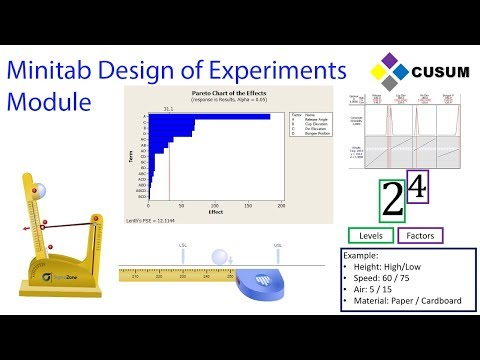 Design of Experiments (DOE) - Minitab Masters Module 5