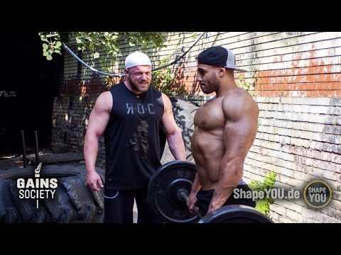 Back & Trap Workout - Justin St Paul & Johannes Luckas - Gainssociety Day 4