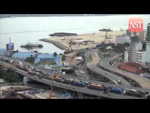 Congestion continues along Johor Baru's Causeway Link today