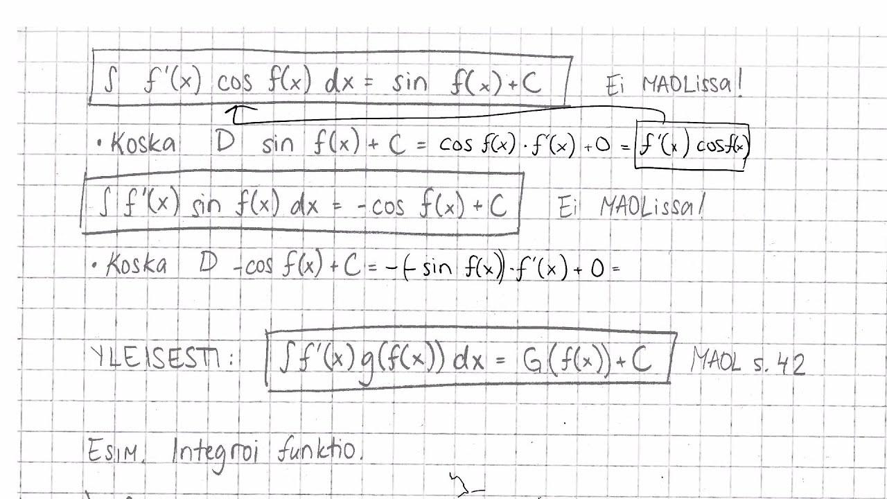 Yhdistetyn Funktion Integrointi