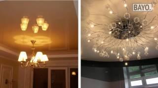 видео ремонт натяжных потолков