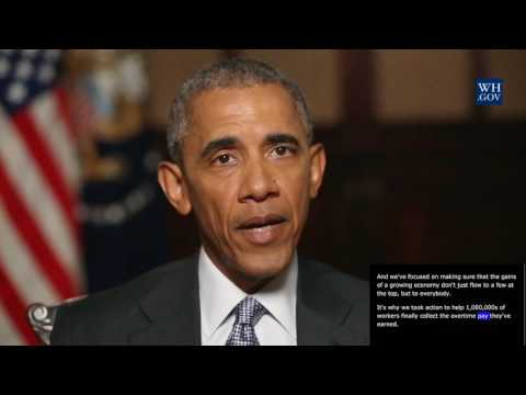 President Obama -  video caption - Sept 3rd, 2016 - Building Upon the Legacy of Labor Day