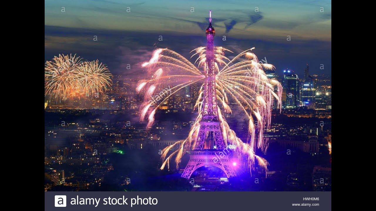 Timelapse Eiffel Tower New Year 2018 Celebration In Paris France     Timelapse Eiffel Tower New Year 2018 Celebration In Paris France  Amazing  Video