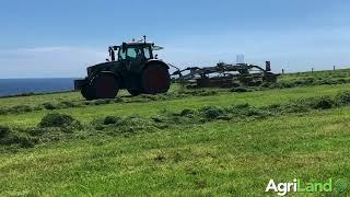 Raking grass just off the coast of Co. Cork near Ballymacoda