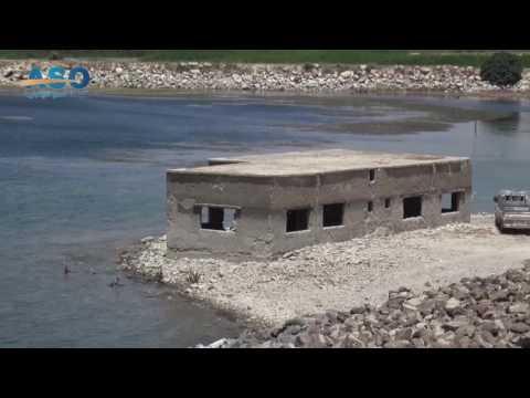 شاهد مقدار الانخفاض بمستوى نهر الفرات