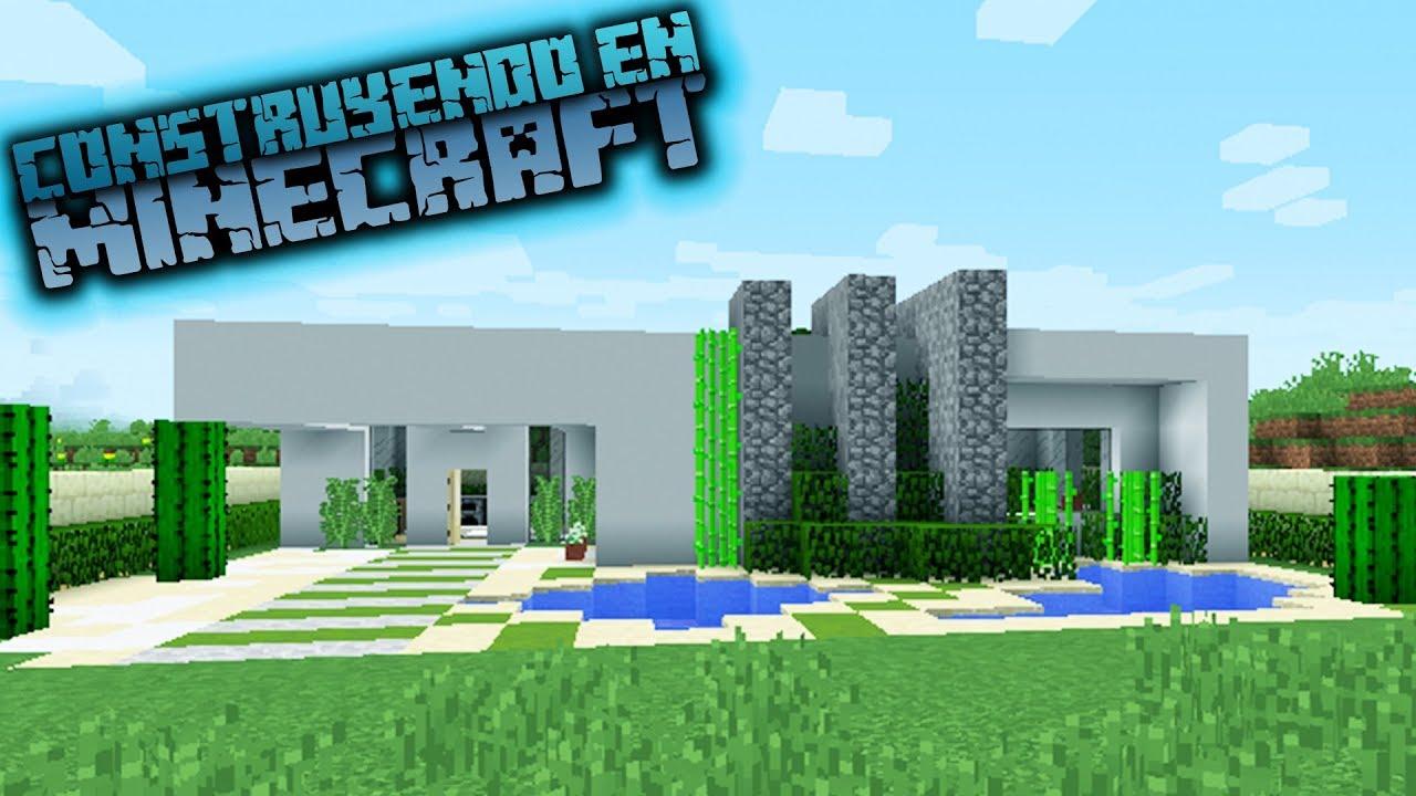 Como hacer una casa moderna para survival en minecraft 1 for Casas modernas minecraft keralis