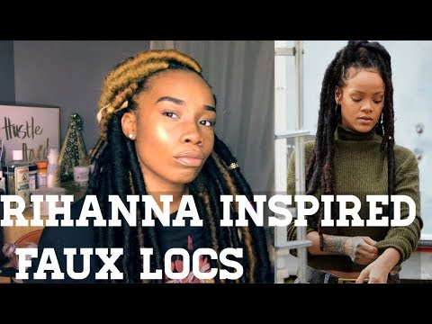RIHANNA INSPIRED JUMBO FAUX LOCS | 6 HOURS and CUBAN TWIST