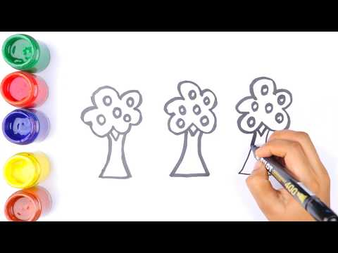 Apple Tree For Children coloring pages