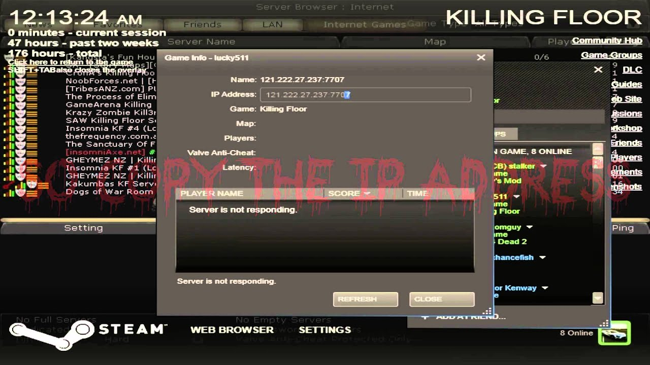 Killing Floor How To Connect 2 A Server Throught Ip Address