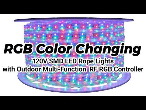 buy popular 260a3 1dd16 RGB Color Changing 120 Volt SMD LED Rope Lights - Full ...