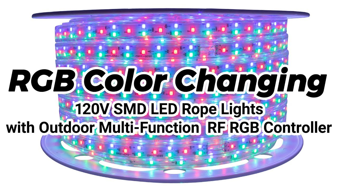 release date: 4a3b9 f5298 RGB Color Changing 120 Volt SMD LED Rope Lights - Full Showcase