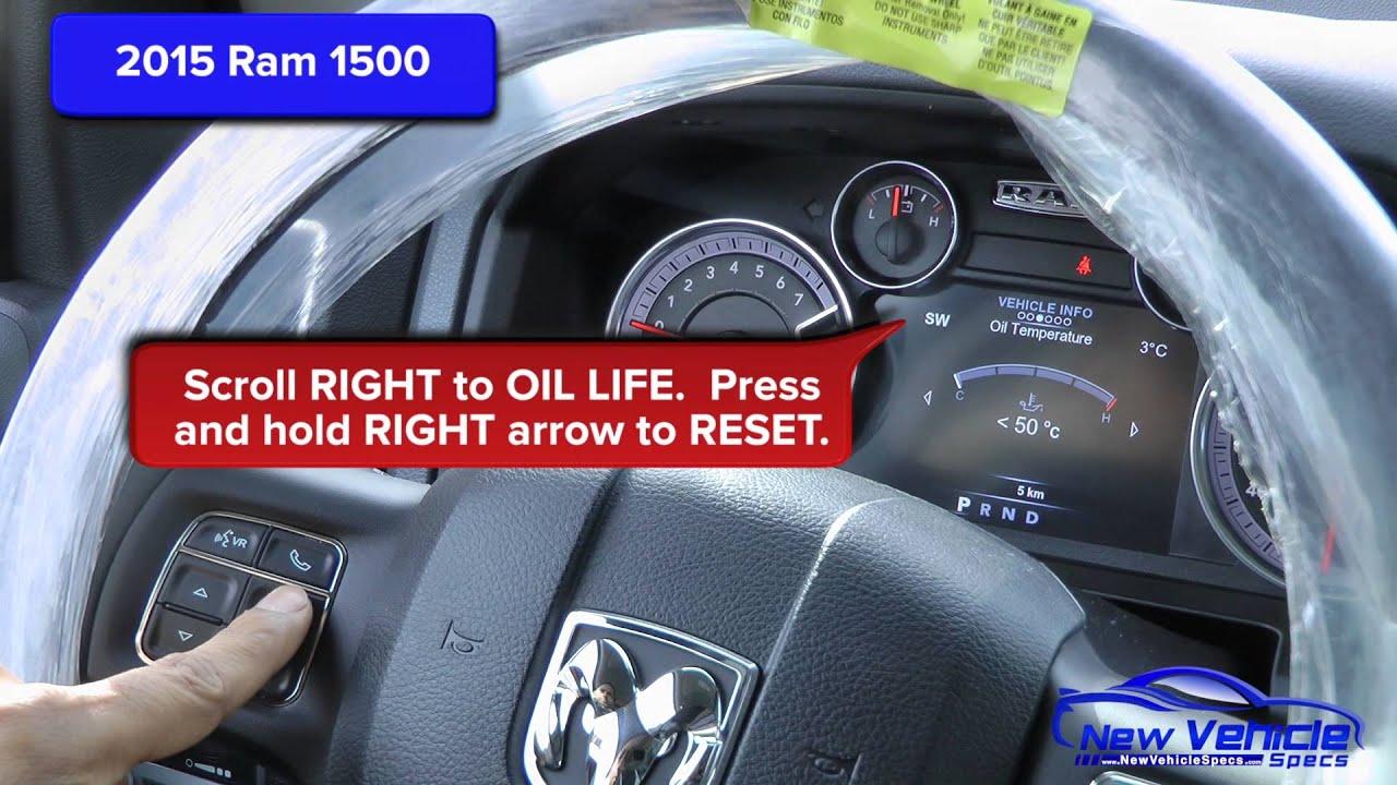 how to reset change oil light on dodge ram