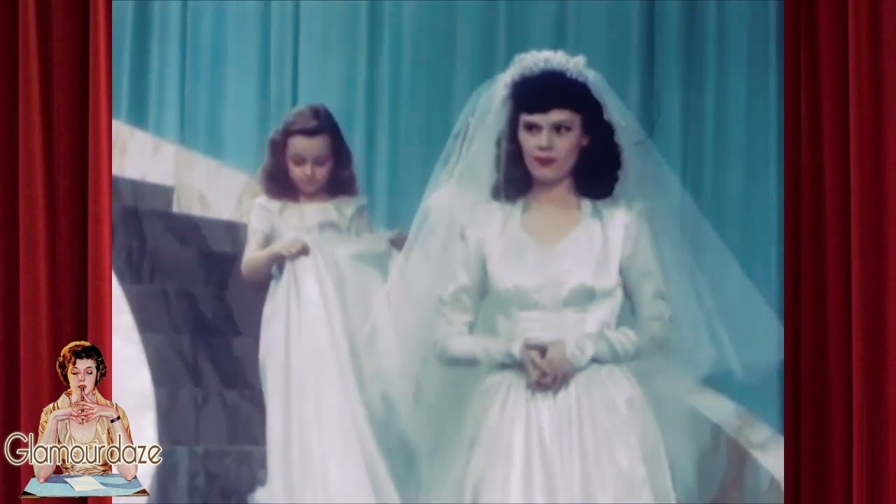 The 1940 S Bride Vintage Wedding Dress And Slips 1941 Youtube