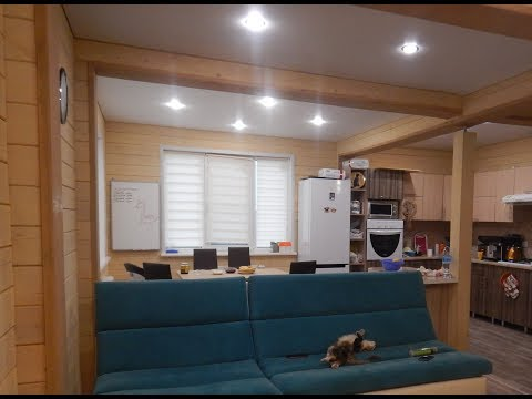 Экскурсия по дому из двойного бруса, построенного под ключ, с интерьером и мебелью!