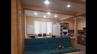 Обзор жилого дома из двойного бруса, построенного под ключ, с интерьером и мебелью!