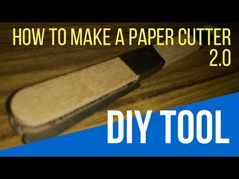 How To Make Paper Cutter v2.0 at Home - DIY | DIY Paper Cutter From Blade