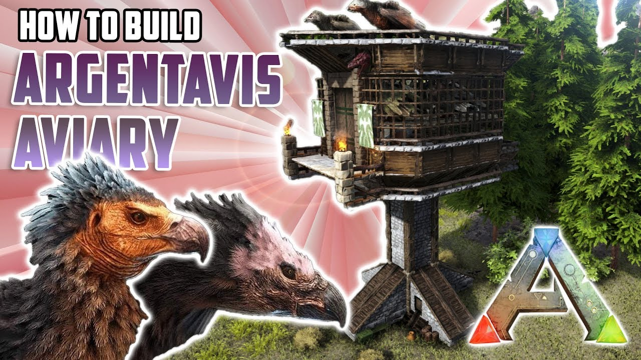How To Build An Argentavis Aviary  Ark Survival Evolved