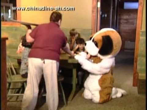 Dude the Dine-ah Dog at The China Dine-ah