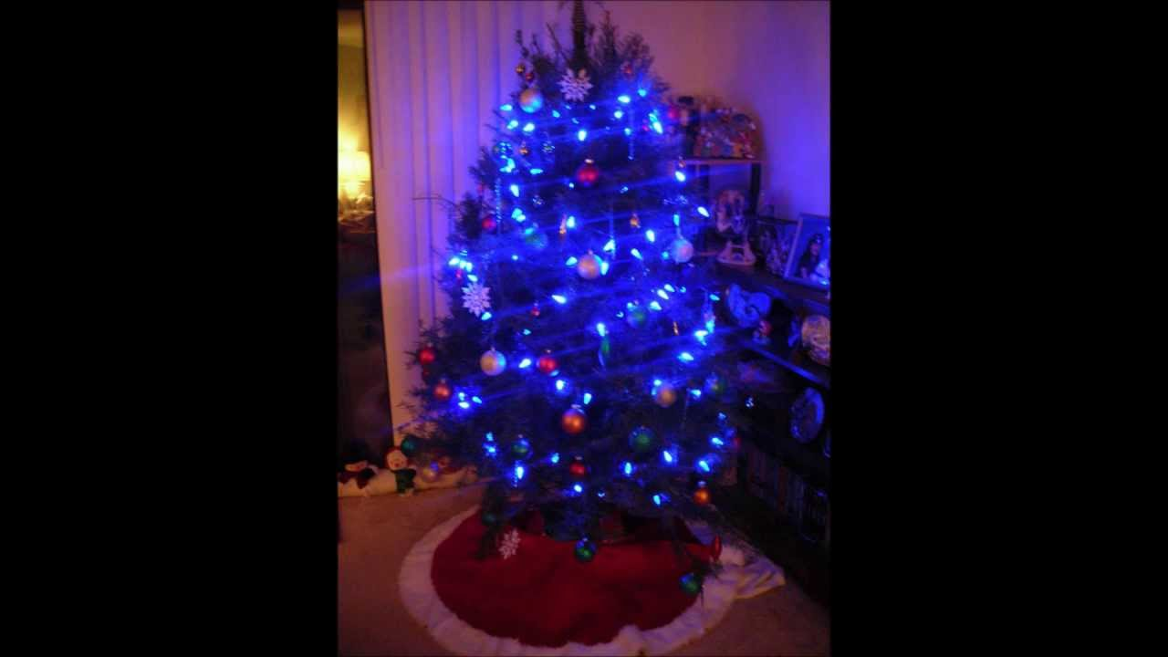 blue light christmas tree