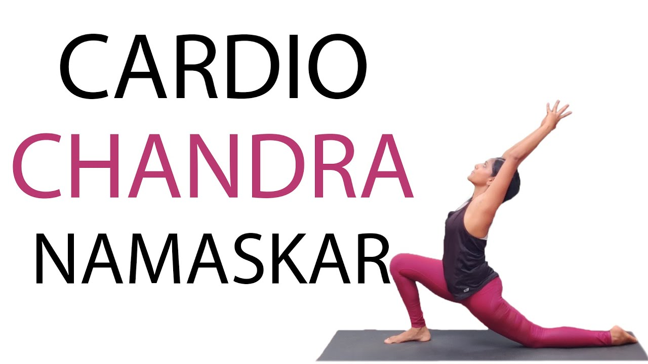 Cardio Yoga Workout | 12 Rounds of Chandra Namaskar | Moon Salutations | Yoga for Weightloss