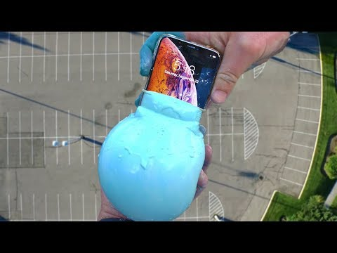 iPhone Xs Oobleck Balloon Drop Test! Casetify Impact Case Review!