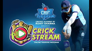 CricKingdom Presents Crick Stream, an online cricket coaching program for all age groups