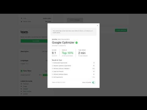 Knowledge of Google Website Optimizer Test Fiverr - Top 10%