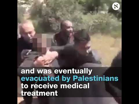 Handcuffed blindfolded Palestinian teen shot by IDF while attempting to flee