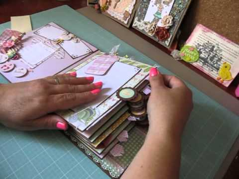 Baby Girl Quot First Year Quot Scrapbook Album Youtube