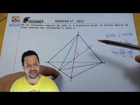 "ADENDO: Vídeo ""FUVEST 2012 (Q 67) - TETRAEDRO REGULAR"" | Canal Waldemática"