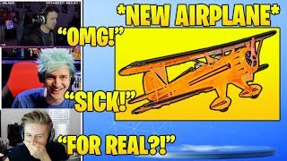 STREAMERS Reacts TO *NEW* 'Airplane' Vehicle IN Fortnite! (Fortnite FUNNY & Daily Best Moments)
